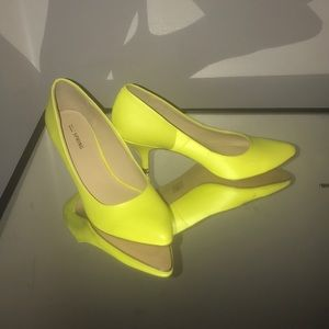 Lime green shoes. Never worn!